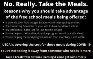 No Really Take the Meals Graphic
